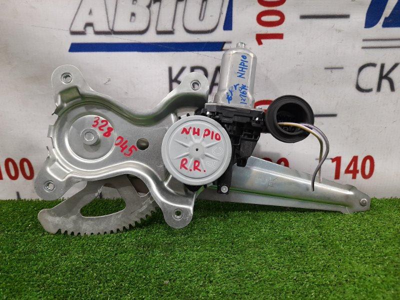 Стеклоподъемник Toyota Aqua NHP10 1NZ-FXE 2011 задний правый задний, правый, 2 контакта