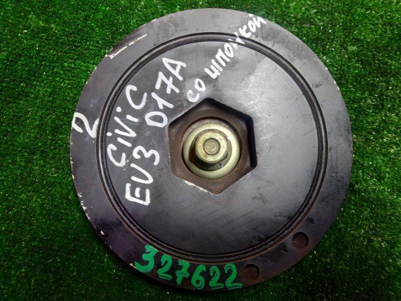 Шкив коленвала Honda Civic EU3 D17A 2004 ПОД ОДИН РЕМЕНЬ. +БОЛТ, +ШПОНКА.
