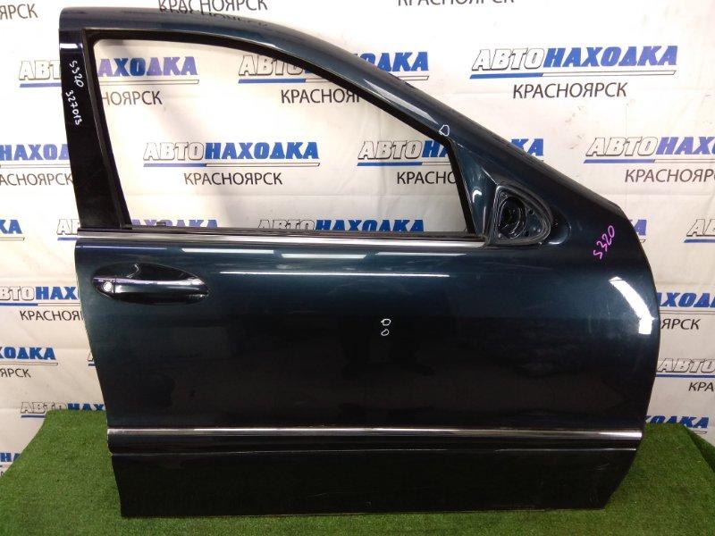 Дверь Mercedes-Benz S320 220.065 112.944 1998 передняя правая передняя правая, темно-синяя (189U), с