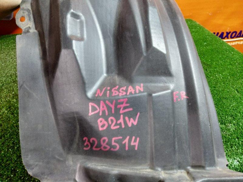 Подкрылок Nissan Dayz B21W 3B20 передний правый 5370B354