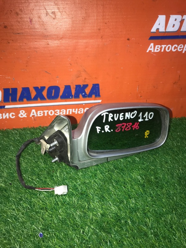 Зеркало Toyota Sprinter Trueno AE111 4A-FE 1995 переднее правое серебро 3 контакта