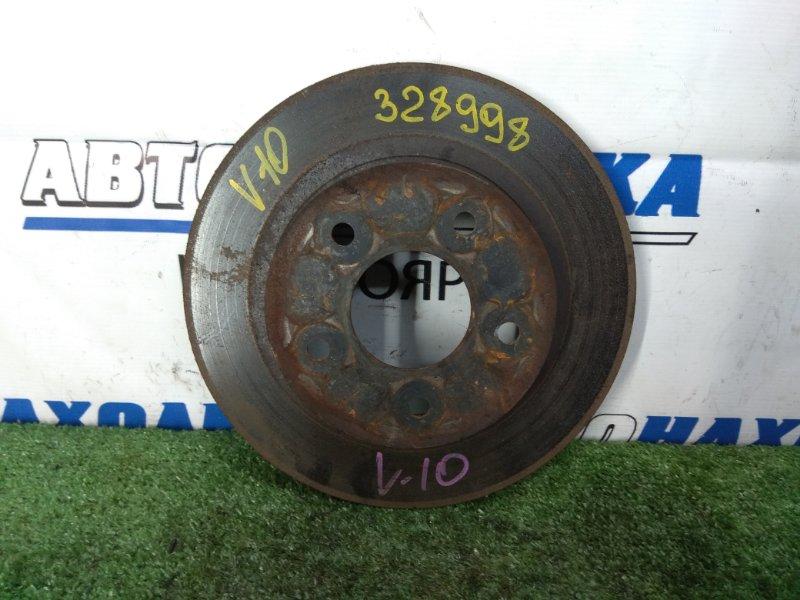 Диск тормозной Nissan Tino V10 QG18DE 1998 задний задний, невентилируемый, 277 мм