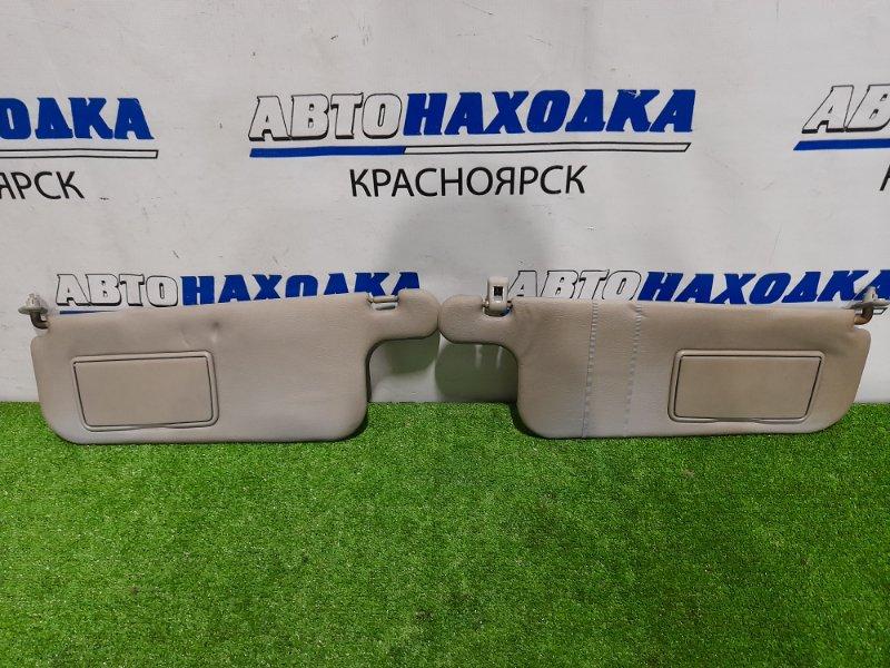 Козырек солнцезащитный Mitsubishi Pajero Io H76W 4G93 1998 MR797802, MR614860 пара L+R, с зеркалами