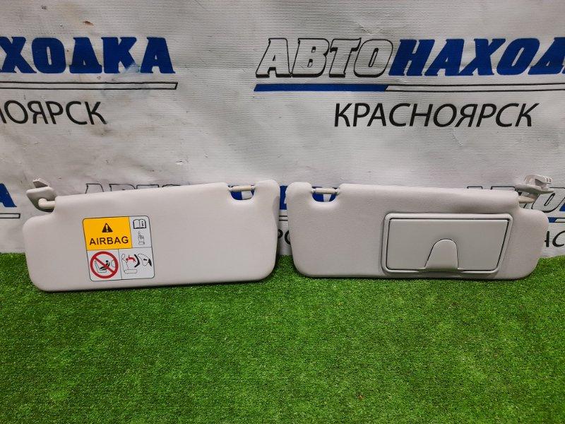 Козырек солнцезащитный Suzuki Wagon R MH34S R06A 2012 пара L+R, водительский с зеркалом, в