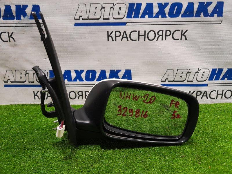 Зеркало Toyota Prius NHW20 1NZ-FXE 2003 переднее правое Правое, 5 контактов. Есть потертость до