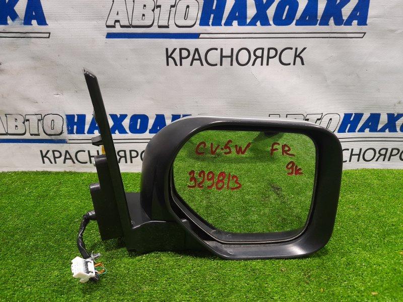 Зеркало Mitsubishi Delica D:5 CV5W 4B12 2007 переднее правое Правое, повторителем, контактов. Есть