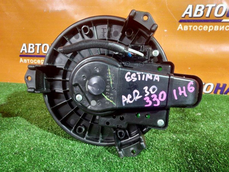 Мотор печки Toyota Estima ACR30 1AZ-FE 272700-8050 ВСТРОЕННЫЙ РЕОСТАТ,