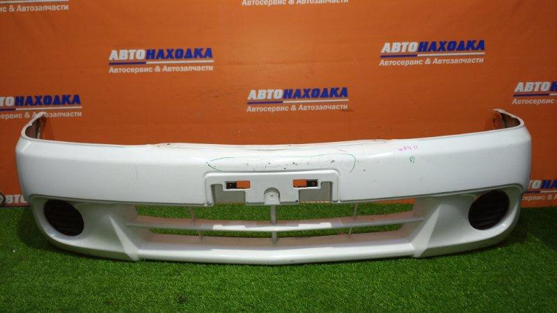 Бампер Nissan Ad VY11 QG13DE 1999 передний есть потертости до пластика/заглушки