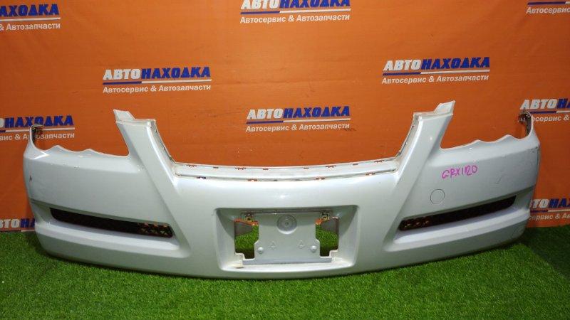 Бампер Toyota Mark X GRX120 4GR-FSE 2006 передний 2 mod.с низу порван в трех местах,верх крепление