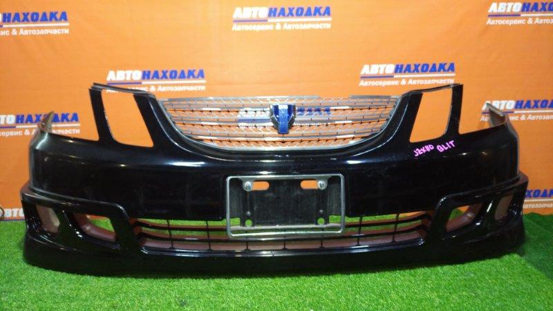 Бампер Toyota Mark Ii Blit JZX110W 1JZ-FSE 2002 передний верх крепления отломаны,слева где фара порван,