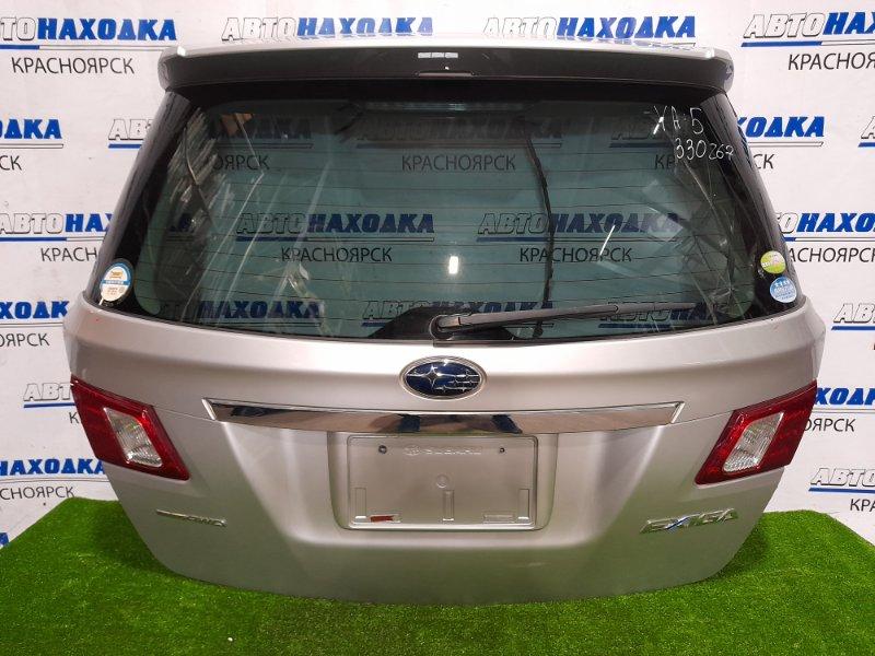Дверь задняя Subaru Exiga YA5 EJ20 2008 задняя В сборе, со спойлером, есть потертости на