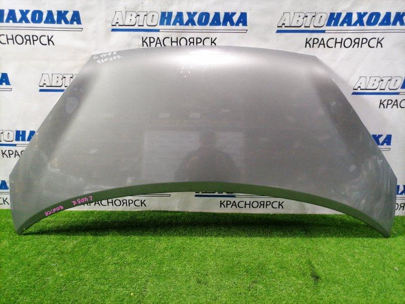 Капот Daihatsu Sonica L405S KF-DET 2006 передний серый (S35), вмятина в середине, смотри на фото