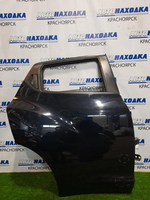 Дверь Nissan Juke YF15 HR15DE 2010 задняя правая задняя правая, в сборе, есть пара вмятинок,
