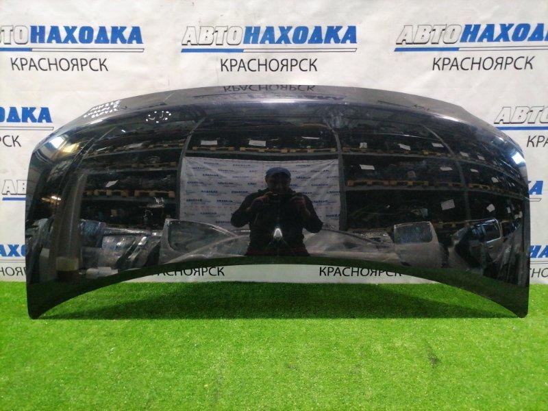 Капот Suzuki Wagon R MH23S K6A 2008 передний чёрный, пара небольших вмятин, царапины до метала