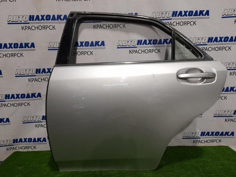Дверь Toyota Crown GRS202 3GR-FSE 2008 задняя левая Задняя левая, в сборе, есть потертости до