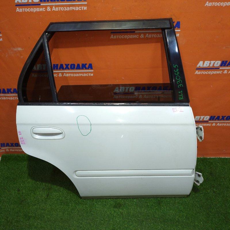Дверь Honda Orthia EL2 B20B 1996 задняя правая есть царапины/+ветровик+петли+тонированное
