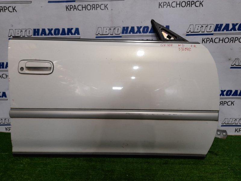 Дверь Toyota Mark Ii GX100 1G-FE 1996 передняя правая передняя правая, цвет 057, без обшивки, блока