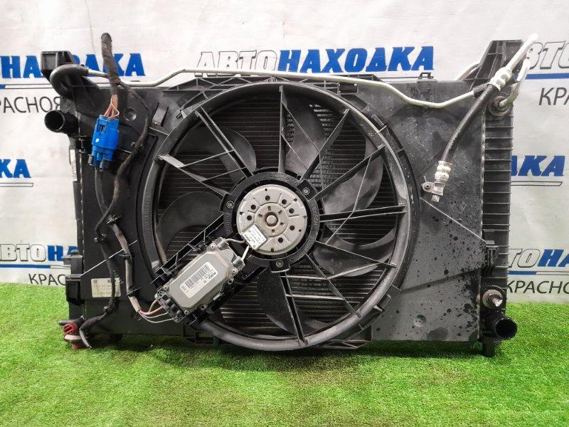 Радиатор двигателя Mercedes-Benz B200 W245 M266 E20 2005 A/T в сборе с диффузором, вентилятором и