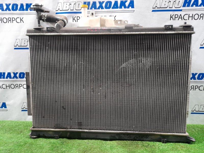 Радиатор двигателя Mazda Biante CCEFW LF-VDS 2008 В сборе с диффузором, вентиляторами + бачок,