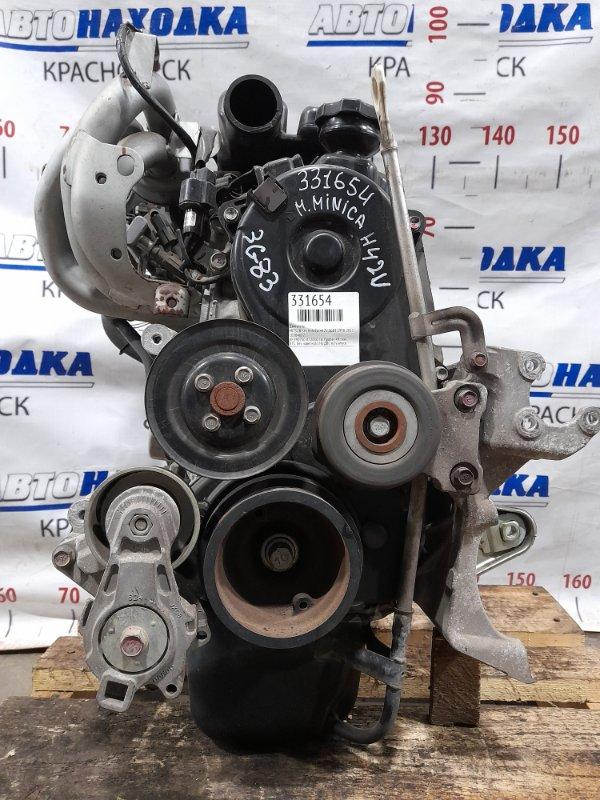 Двигатель Mitsubishi Minica H42V 3G83 1998 990750 № 990750 07.2010 г.в. Пробег 49 т.км. ХТС. Без навесного. На