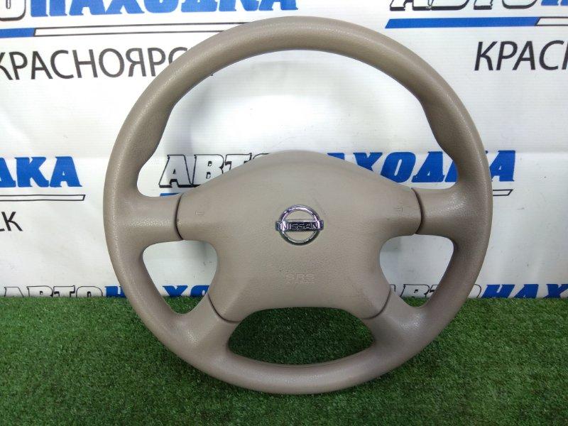 Airbag Nissan Liberty RM12 QR20DE 2001 Водительский, с рулём- 4 спицы, 2 мод. без заряда, бежевый.