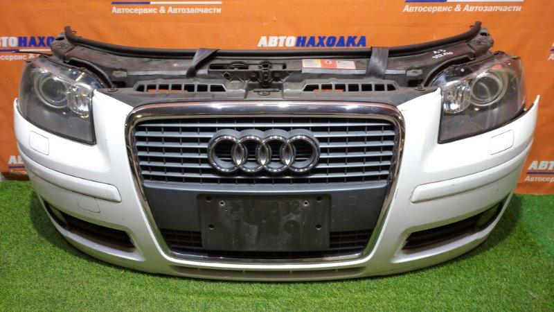 Ноускат Audi A3 8PA BSE 2004 2 мод бампер под покраску+решетка+туманки+омыватели фар+фары