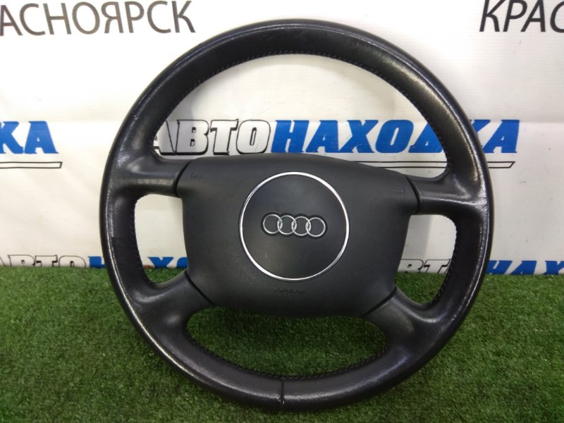 Airbag Audi A4 B6 ALT 2000 ХТС, водительский, с рулем, черный (soul), кожа, с подушкой, без заряда
