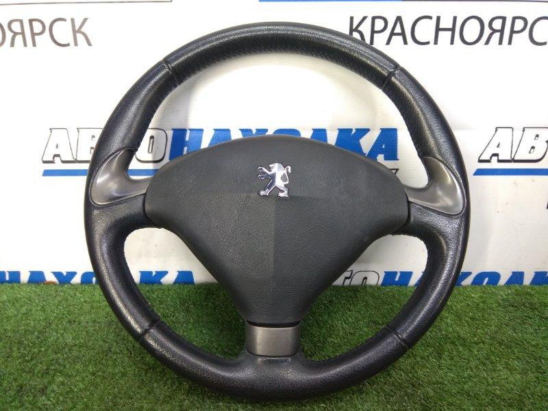 Airbag Peugeot 407 6D ES9A 2004 водительский, с рулем (кожаный), без заряда и подушки, потертости
