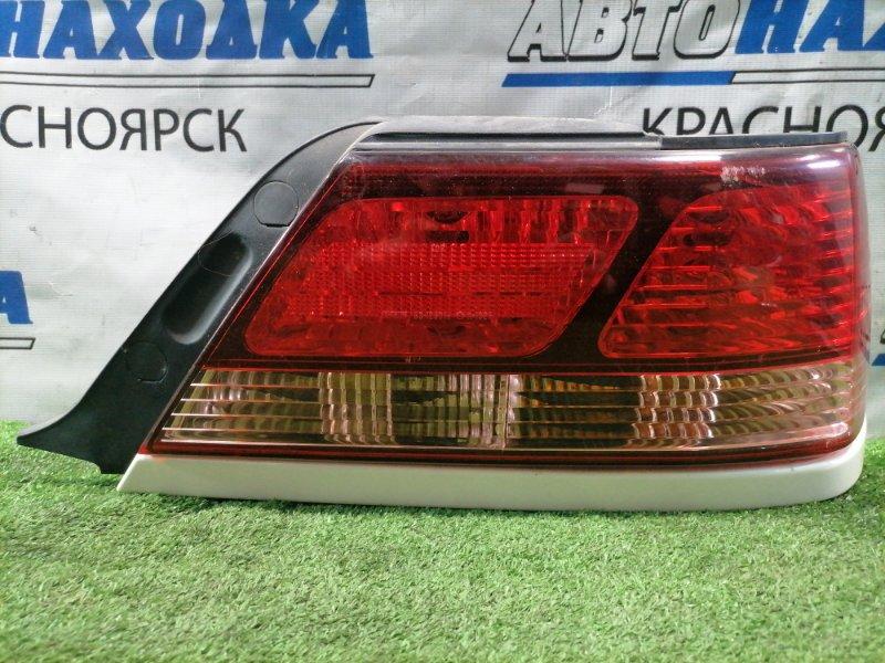 Фонарь задний Toyota Cresta GX100 1G-FE 1998 задний правый 22-291 правый, с планкой белый перламутр