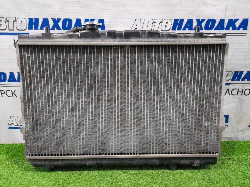 Радиатор двигателя Hyundai Coupe GK G6BA 2002 в сборе, 2 диффузора, 2 вентилятора, под АКПП, в
