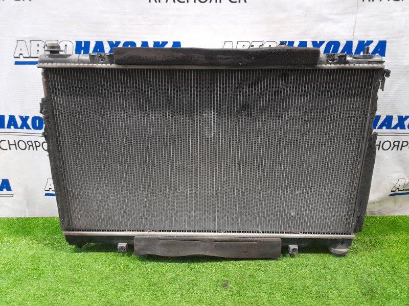 Радиатор двигателя Toyota Mark X GRX120 4GR-FSE 2004 В сборе с диффузором, вентиляторами и