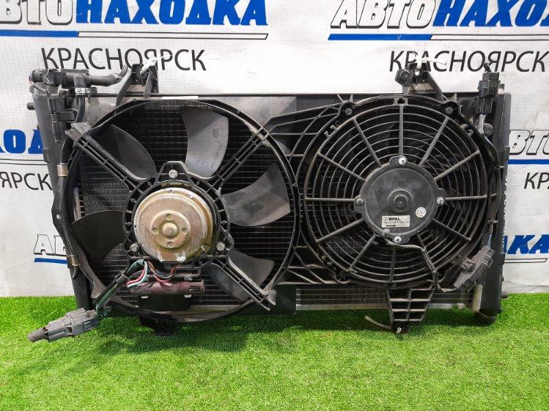 Радиатор двигателя Volvo V40 VW17 B4204S2 2000 в сборе с диффузором и вентиляторами, в ХТС