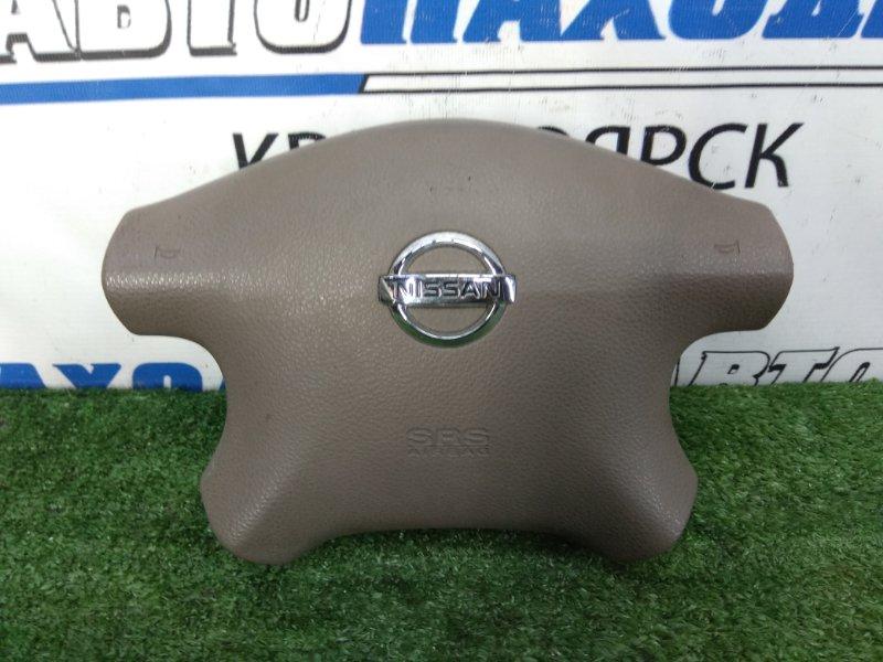 Airbag Nissan Bluebird Sylphy TG10 QR20DD 2003 правый Водительский, с подушкой, без заряда, коричневый