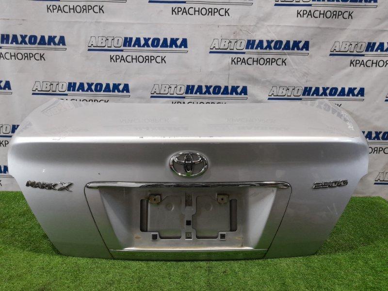 Крышка багажника Toyota Mark X GRX120 4GR-FSE 2004 задняя В сборе, есть царапины до металла. код