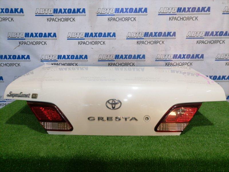 Крышка багажника Toyota Cresta GX100 1G-FE 1998 В сборе, рестайлинг, с вставками (22-295), есть
