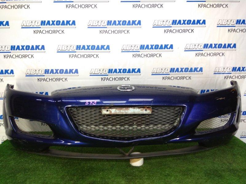 Бампер Mazda Rx-8 SE3P 13B-MSP 2003 передний передний, синий, 1 модель (дорестайлинг), сломано