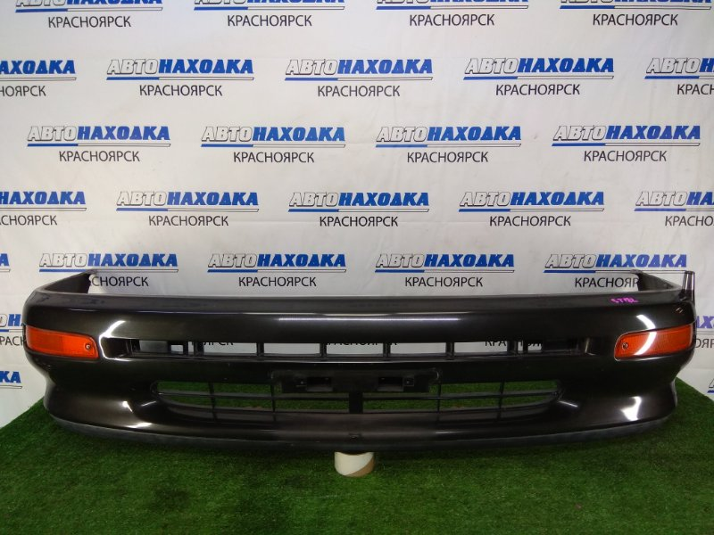 Бампер Toyota Corona Exiv ST182 3S-FE 1991 передний в целом ХТС, передний, черный (6K8), 2 модель