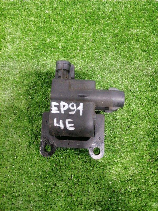 Катушка зажигания Toyota Starlet EP91 4E-FE 1997 на 1 и 4 цилиндр.