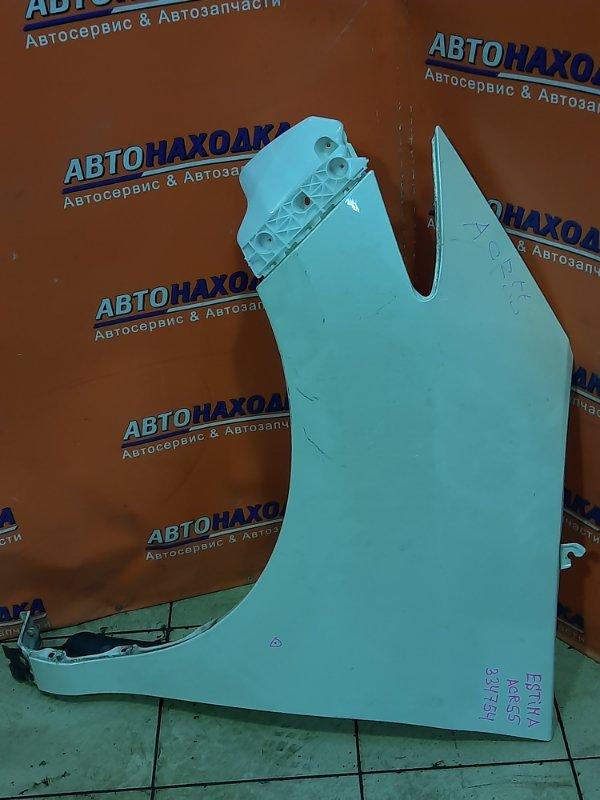 Крыло Toyota Estima ACR55 2AZ-FE переднее левое БЕЗ ПОВТОРИТЕЛЯ. + КЛИПСА