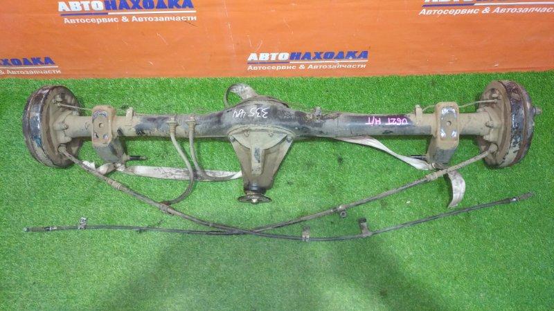 Мост Mitsubishi Minicab U62T 3G83 1999 задний МКПП/ступицы бараб пара+тросы