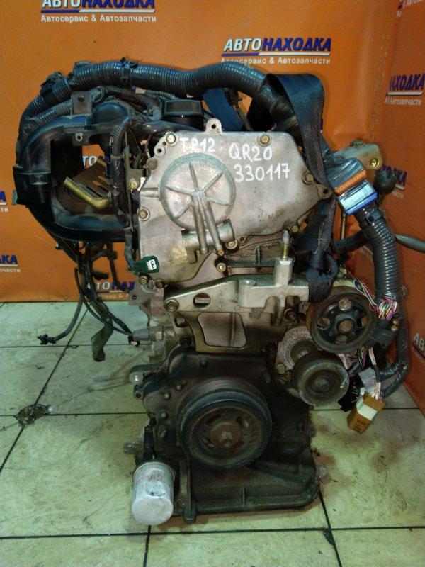 Двигатель Nissan Primera TP12 QR20DE 01.2004 441676A 90T.KM, БЕЗ НАВЕСНОГО.