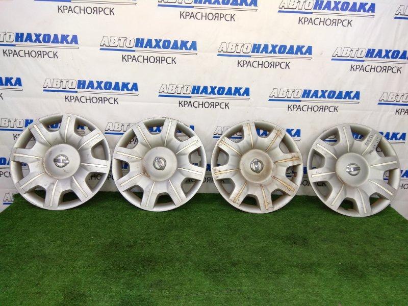 Колпаки колесные Nissan Teana J31 VQ23DE 2003 оригинал, R16, комплект 4 штуки. Потертости