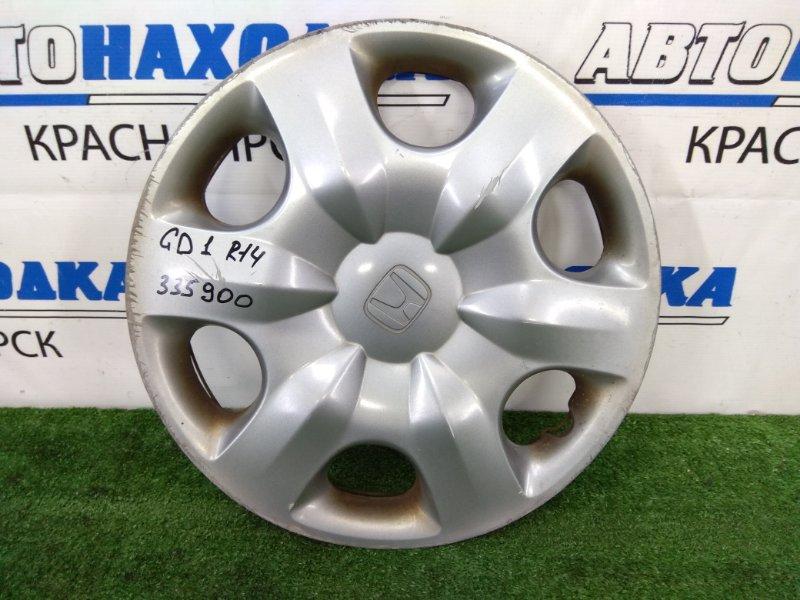 Колпаки колесные Honda Fit GD1 L13A 2005 Оригинал, R14, 1 штука, есть потертости