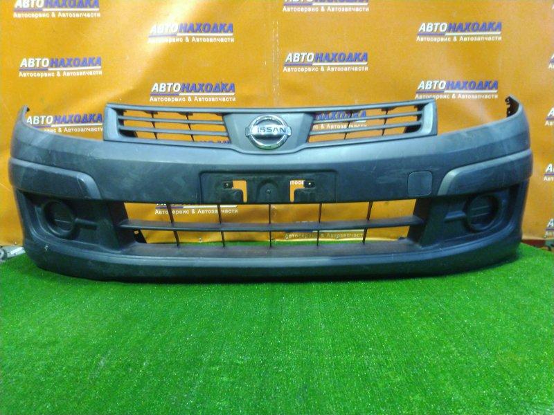 Бампер Nissan Ad VY12 HR15DE передний 62022-JJ00A ЧЕРНЫЙ НЕКРАШЕНЫЙ. ЦАРАПАННЫЙ