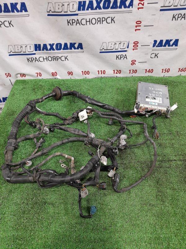 Проводка двс Toyota Platz NCP16 2NZ-FE 1999 подкапотная коса + комп 89661-52630