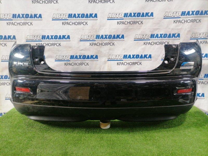 Бампер Nissan Juke YF15 HR15DE 2010 задний Задний, с губой, катафотами, дорестайлинг. Есть