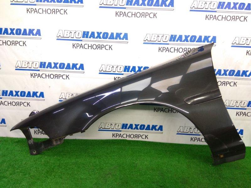 Крыло Toyota Corona Exiv ST182 3S-FE 1989 переднее левое переднее левое, черное (6K8), перекрашивалось в
