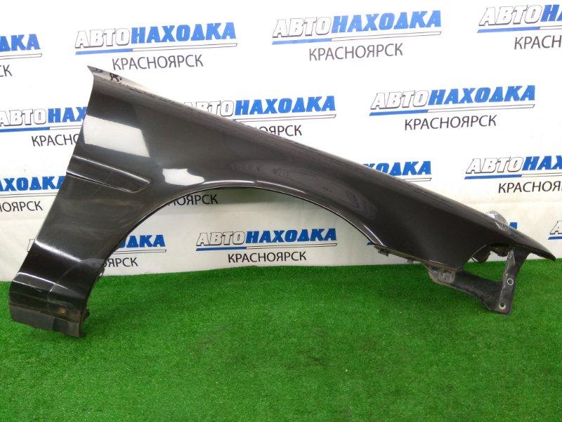 Крыло Toyota Corona Exiv ST182 3S-FE 1989 переднее правое ХТС, переднее правое, черное (6K8), с молдингом