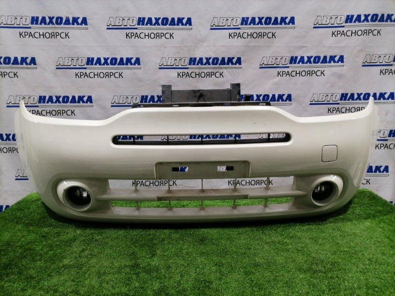Бампер Nissan Cube Z12 HR12DE 2008 передний передний, с туманками. Есть потертости до пластика