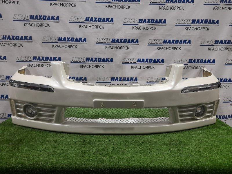 Бампер Nissan Cima GF50 VK45DD 2001 передний передний, тюнинг, стекловолокно, с туманками. Есть